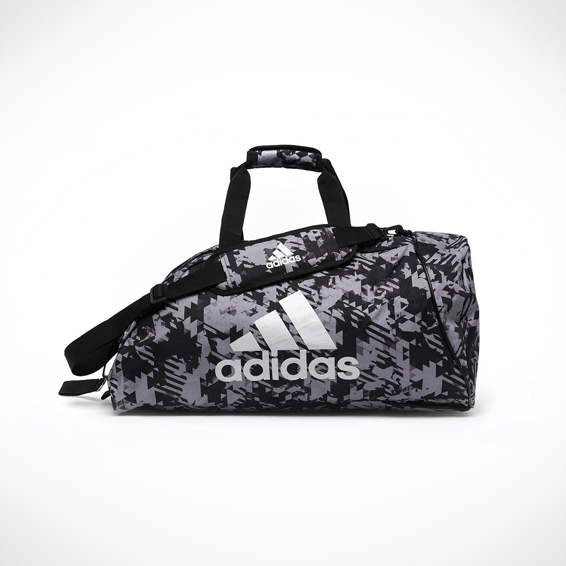 b45ee3fe92 adidas – 2 in 1 Sports Bag – Black Camo/Silver – All For Sports