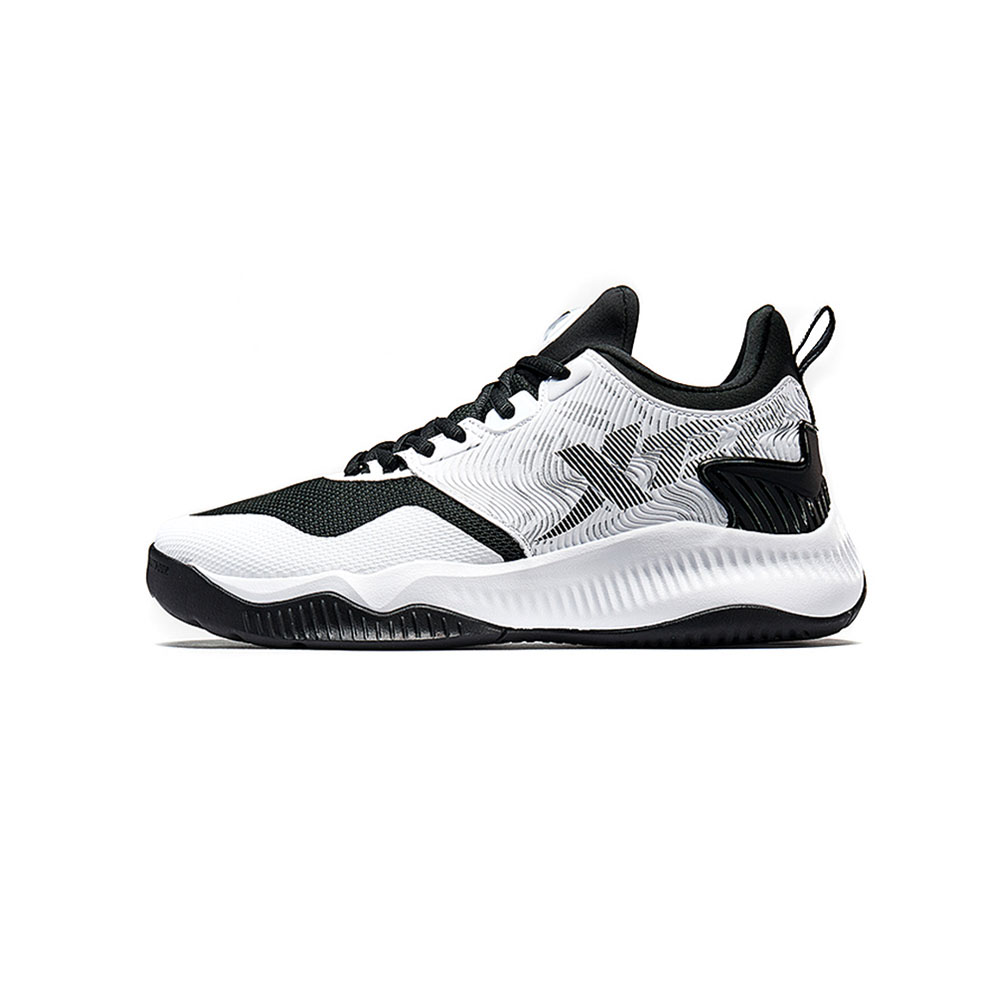 Xtep – Men Basketball Shoes – White/Black