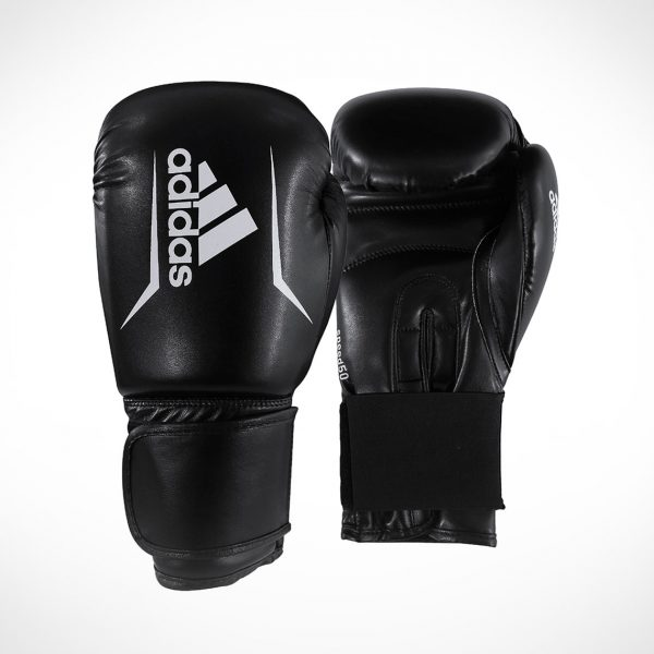 adidas Speed 50 Boxing Goves Black White ADISBG50